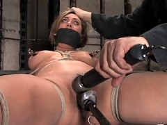 Hot young blond forced to submit, forced into bondage.